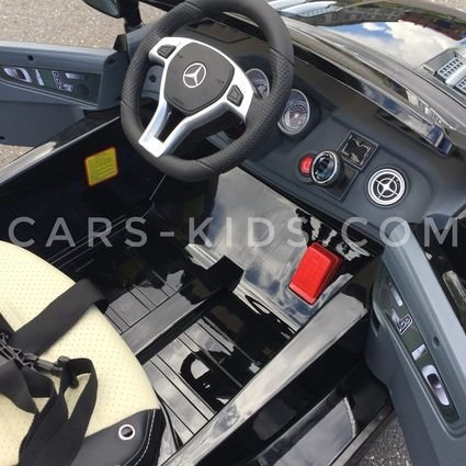 Электромобиль Mercedes-Benz SL63 AMG (резиновые колеса, кожа, пульт, музыка, глянцевая покраска)