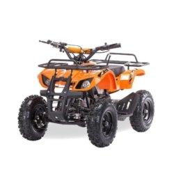 Квадроцикл детский бензиновый MOTAX ATV Х-16 Мини-Гризли оранжевый (механический стартер, задний привод, до 45 км/ч)