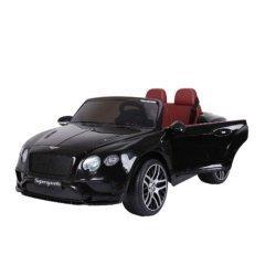 Электромобиль BENTLEY CONTINENTAL SUPERSPORTS JE1155 черный (колеса резина, кресло кожа, пульт, музыка)