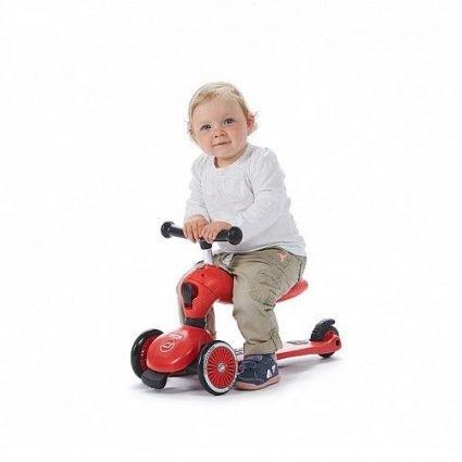 Трехколесный самокат с сиденьем Scoot&Ride HighwayKick МОГУЧИЙ ТИТАН от 1 до 5 лет (2 в 1)