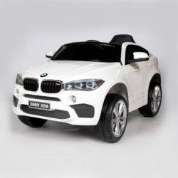 Электромобиль BMW X6M Mini JJ2199 белый (колеса резина, кресло кожа, пульт, музыка)