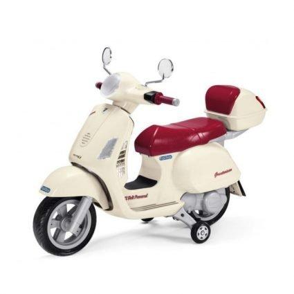 Электромотоцикл Peg-Perego Vespa (до 4,9 км/ч, колеса резиновая накладка, аудио эффекты)