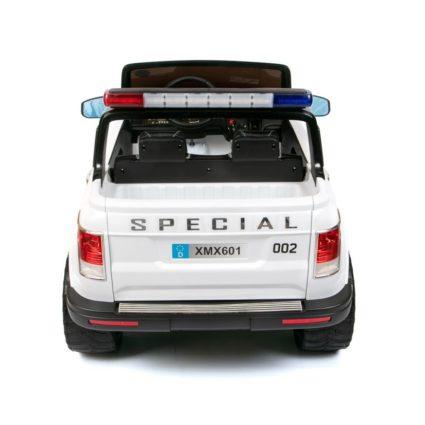 Электромобиль Range Rover XMX601(Happer) Police черно-белый (2х местный, полный привод, колеса резина, кресло кожа, пульт, музыка)